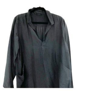 Ls silk black tunic